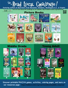 "Thumbnails of the 2019/20 Read Local Challenge books, with the text ""Take the Read Local Challenge!"""