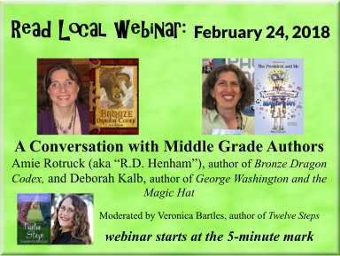 Read Local Webinar: February 24, 2018 - A Conversation with Middle Grade Authors R.D. Henham (Amie Rotruck) and Deborah Kalb