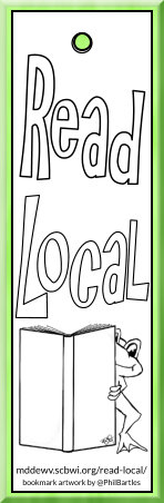 Read Local picture book challenge bookmark to print and color