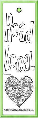 printable Read Local YA Challenge bookmarks to color