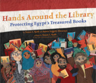 Tweet to tell us that you read HANDS AROUND THE LIBRARY by Karen Leggett Abouraya