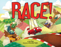 Tweet to tell us that you read RACE by Sue Fliess