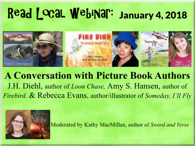 January 4, 2018: A Conversation with Picture Book Authors J.H. Diehl, Amy S. Hansen, and Rebecca Evans