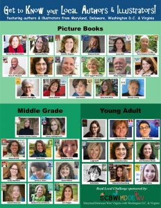 Thumbnail-sized images of each of the illustrators and authors participating in the 2019/20 Read Local MD/VA/DE/DC Challenge