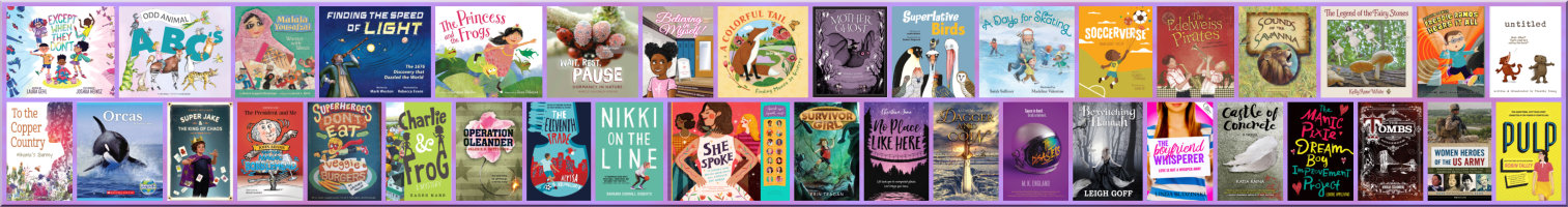 Thumbnail images of all 38 book covers in the 2019/20 Read Local MD/VA/DE/DC Challenge