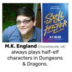M.K. England, author of SPELL HACKER