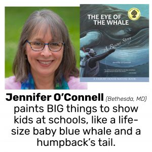 Jennifer O'Connell, author/illustrator of THE EYE OF THE WHALE