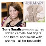 June Smalls, author of SHE LEADS