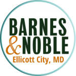 white circle with bold lettering that says Barnes & Noble, Ellicott City, MD